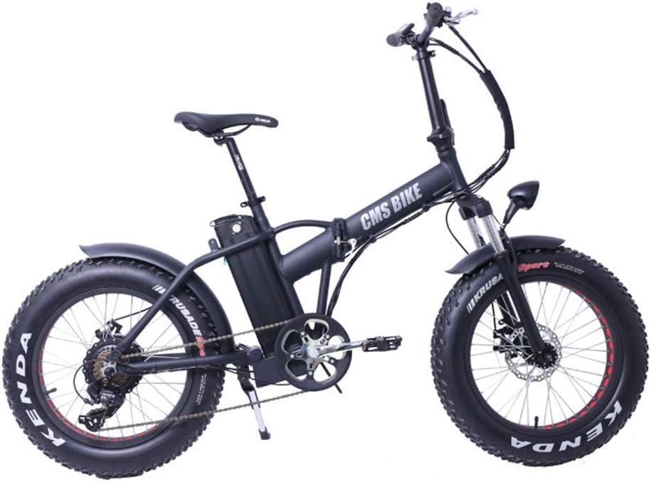 Eléctrica de bicicletas de montaña de 20 pulgadas de neumáticos de nieve Bicicleta eléctrica Bicicleta de montaña 6 Velocidad Frenos de bicicletas 250W Batería Li-disco Smart bicicleta eléctrica: Amazon.es: Deportes y aire