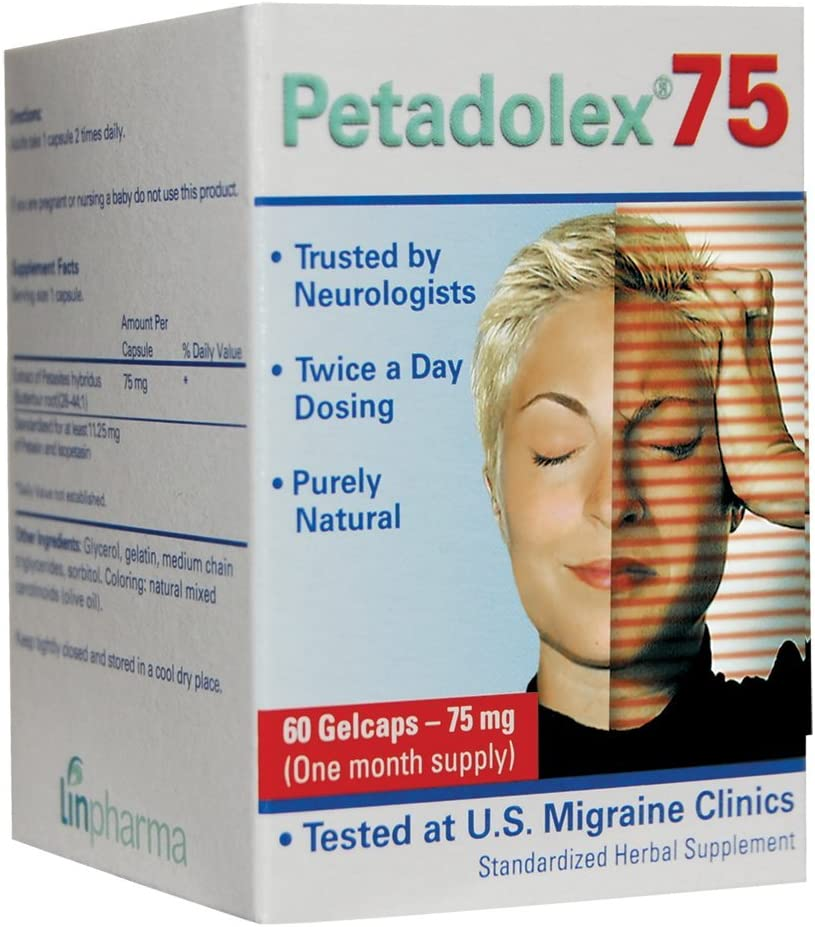 Liinpharma Petadolex 75 mg Patented PA-Free Butterbur Root Extract – 1 Bottle