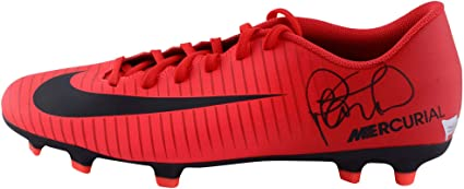 new product 1b353 69038 Philippe Coutinho Barcelona Autographed Red and Black Nike ...