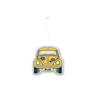 BRISA VW Collection - Volkswagen Scented Car Air Freshener Fragrance Deodorizer for Car/Auto or Home with Volkswagen Beetle/Bug Front Design (Coconut/Yellow): Automotive