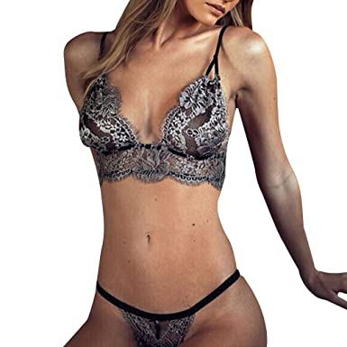 Arichtop Women Lace Bra Knickers Set Girl Underpants Briefs Lingerie Sleepwear Nightwear