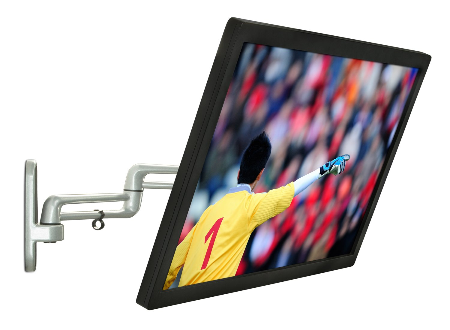 Mount-It! Full Motion Computer Monitor Wall Mount Fits TVs and Computer Screens With VESA 75 and 100 Universal Bolt Patterns, Swivel Tilt and Rotate, 33 Lbs Capacity