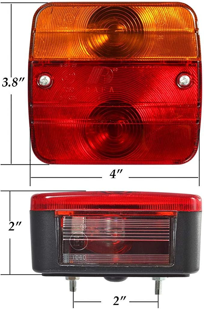 Ship from UK Yudanny Pair 12V Rear Stop LED Lights Tail Brake Indicator Truck Van Lamp Trailer Light