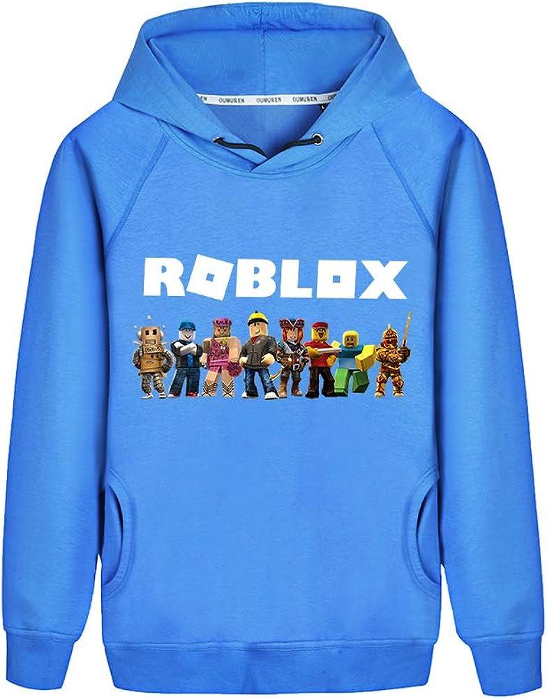 NINIUBAL Roblox Pullover L/ässige Mode Hoodies Sweatshirt Bedruckter gem/ütlicher Kapuzenpullover Classic Sweater Jungen und M/ädchen