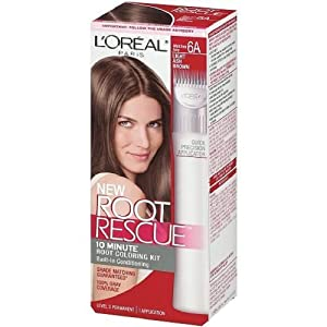 L'Oreal Paris Root Rescue Coloring Kit 6A Light Ash Brown Hair Low Ammonia (1-Pack)