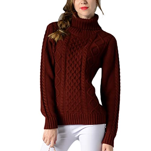 Zhuhaitf Agradable Multicolor Long-sleeved Shirts Roll Collar Womens Sweater High Quality for Ladies