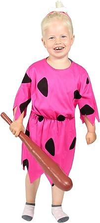 FOXXEO niña de Edad de Piedra Rosa Disfraz para el Carnaval ...