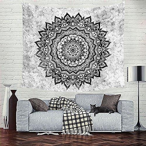 Mandala Tapestry (Indian Mandala Flower Printed Tapestry Wall Hanging Tapestries Boho Bedspread Beach Towel (Small/59