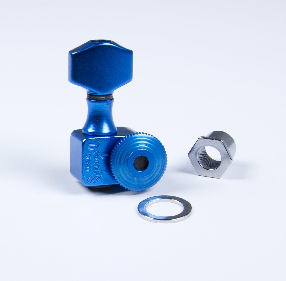 Sperzel 6TL Locking Tuner 6 Inline Blue