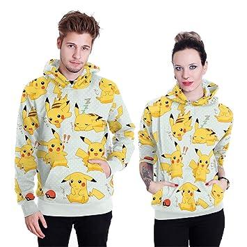 WQWQ Sudadera con Capucha de Pokemon Pikachu Traje de ...