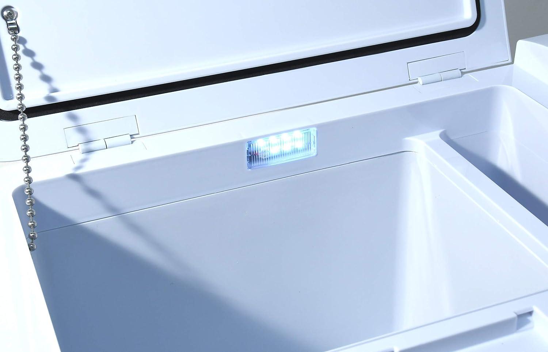 20/°C Compass 07081 K/ühlbox Silver Frost mit Kompressor 25l 230//24//12V
