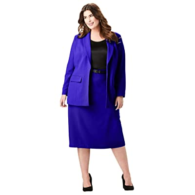Jessica London Women's Plus Size Single-Breasted Skirt Suit: Clothing