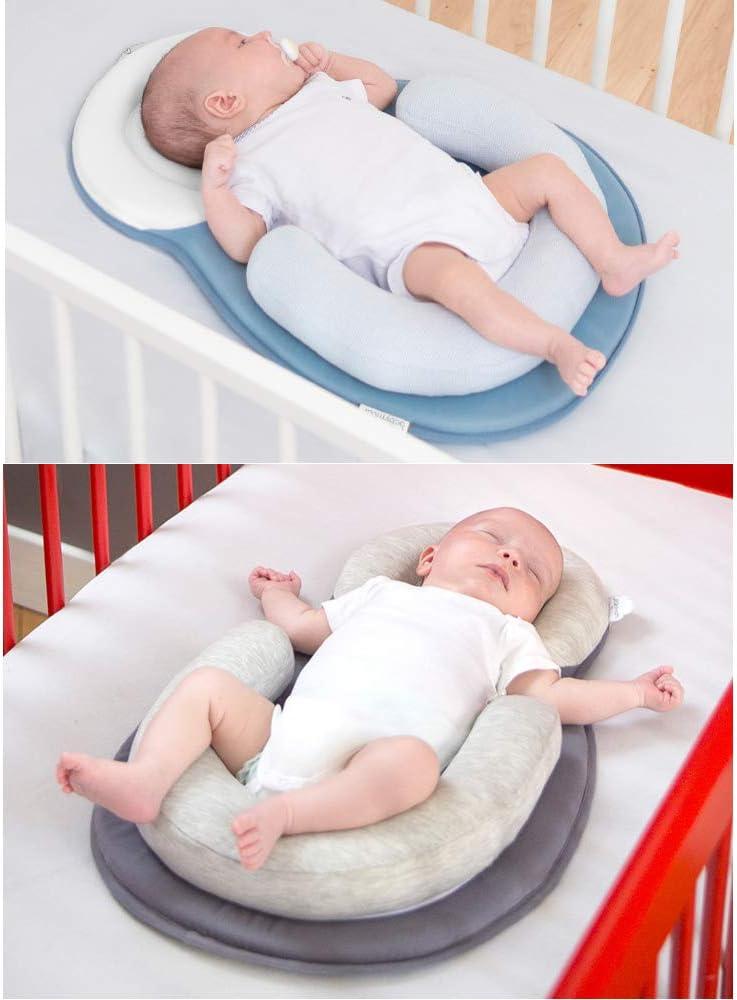 Baby Sleep Aid Azul PRXD Coj/ín de dormir port/átil para beb/é con almohadas de lactancia Coj/ín de colch/ón de cuna para tumbona infantil 55 * 38 cm 0-12 meses
