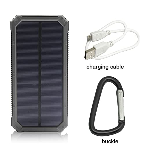 iBeek® Portable 12000mAh Dual USB Solar Battery Charger Power Bank Phone Charger