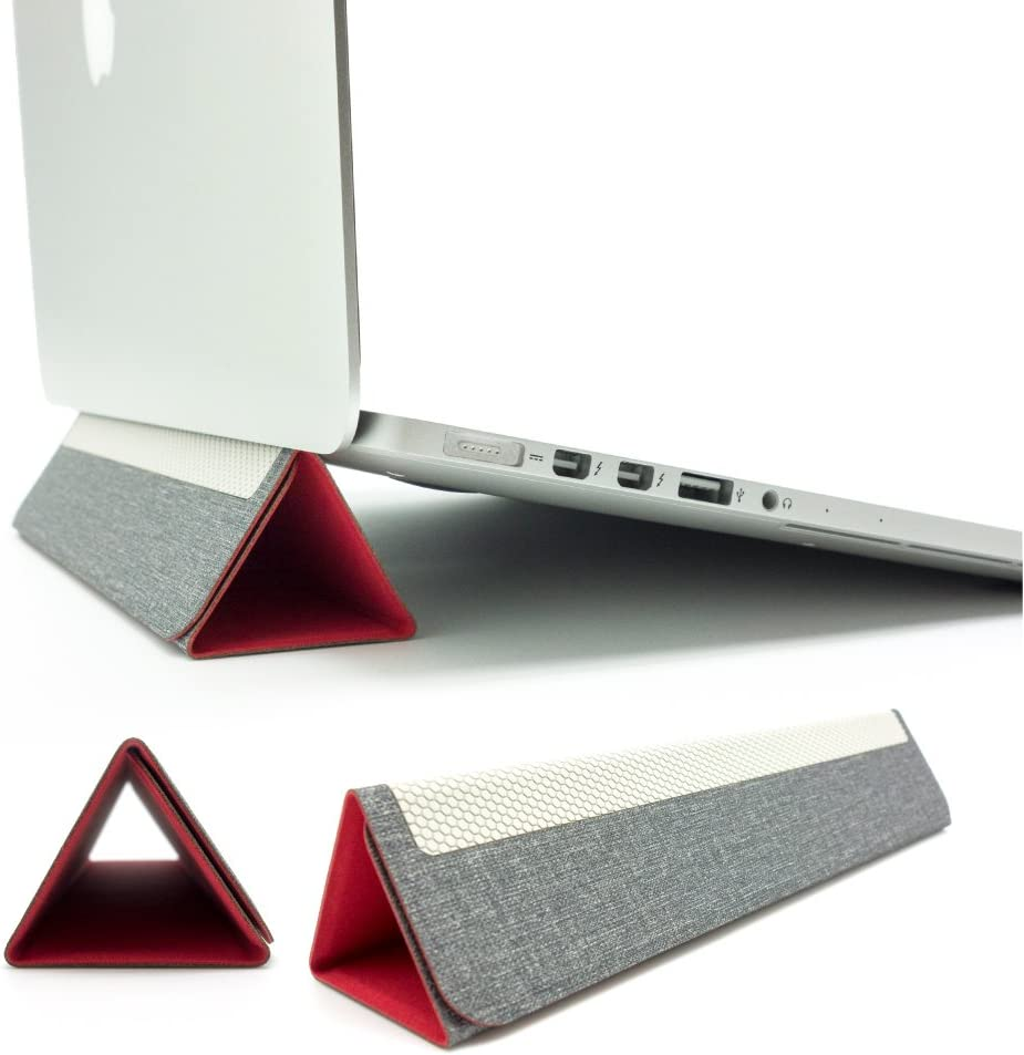 """SenseAGE Pyramid Foldable Laptop Stand, Lightweight Laptop Stand, Anti-Slide and Portable Notebook Stand, Compatible with MacBook/MacBook Air/MacBook Pro, Tablets and Laptops up to 15"""", Royal Red"""