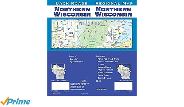 Wisconsin Northern Wisconsin Regional Map Gm Johnson