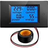 ELEGIANT AC 80-260V 100A Digital Current Voltage Amperage LCD Power Panel Meter DC Volt Amp Testing Gauge Monitor Power Energy Meter Ammeter Voltmeter