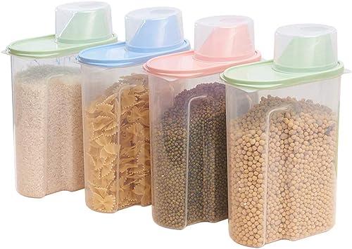 SHKY Contenedor para Cereales - Juego de 4 recipientes de plástico ...
