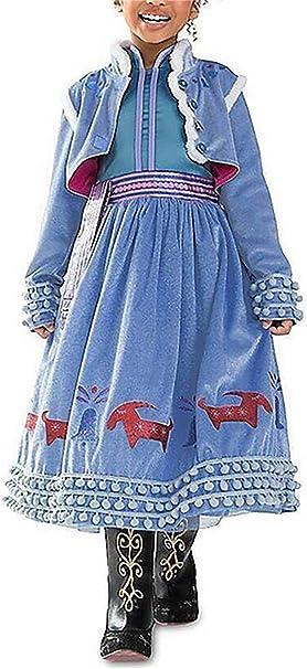 YOSICIL Vestido Frozen Disfraz de Princesa Elsa Anna Invierno ...