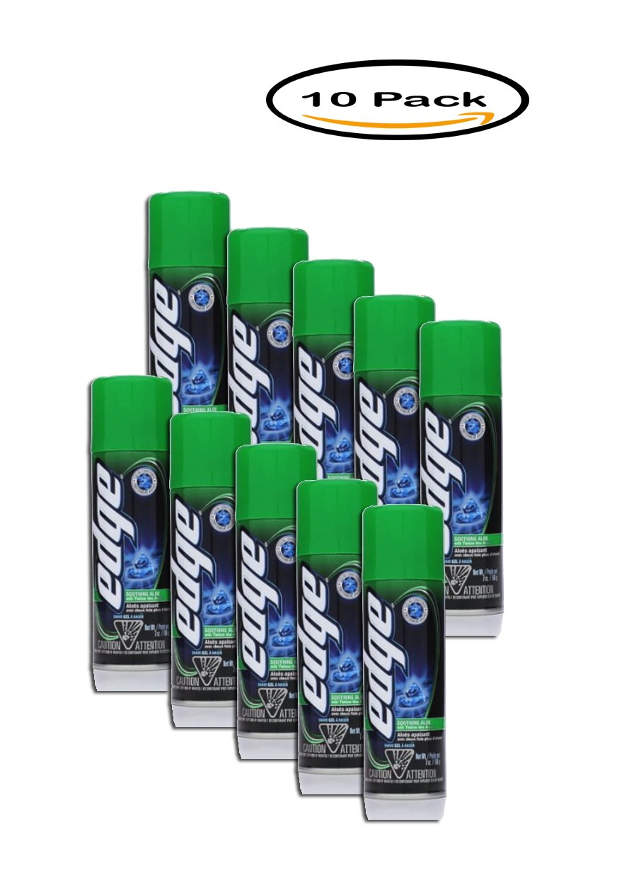 PACK OF 10 - Edge Shave Gel For Men Soothing Aloe - 7 oz