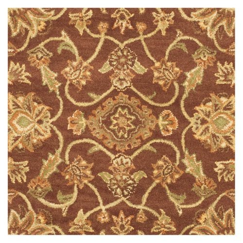 Safavieh Traditional Rug - Golden Jaipur Wool Pile -Rust/Green Rust/Green/Traditional/4'L x 4'W/Round