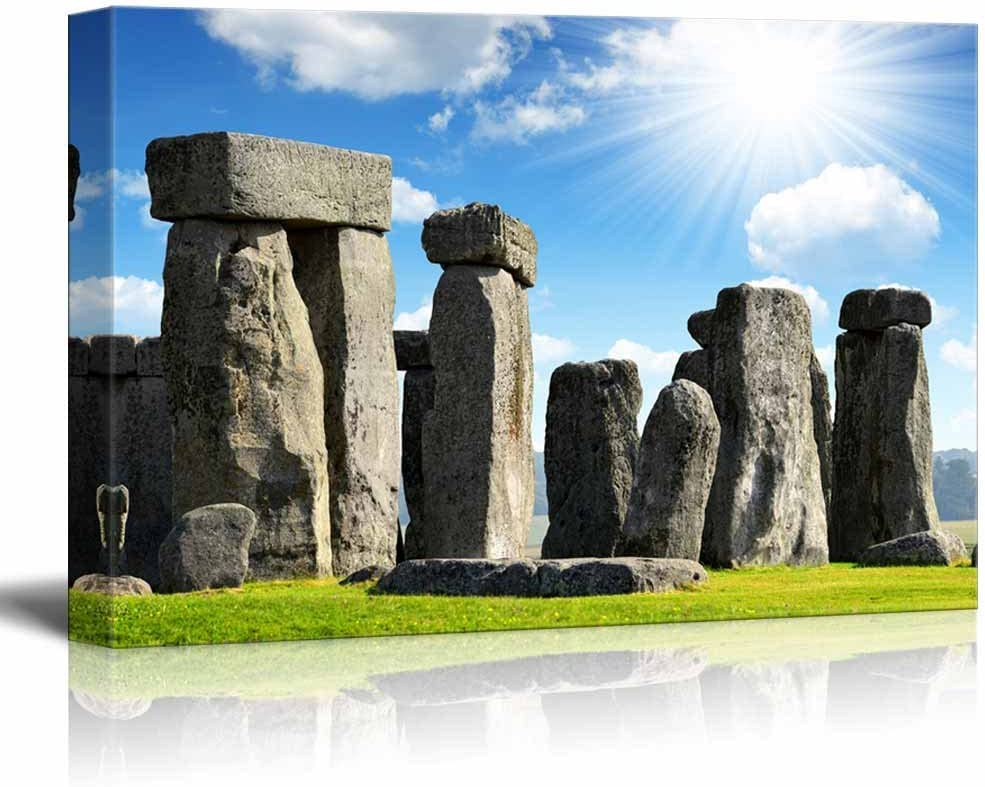 Canvas Picture Print Black And White Stonehenge Wall Art Large Photo Poster