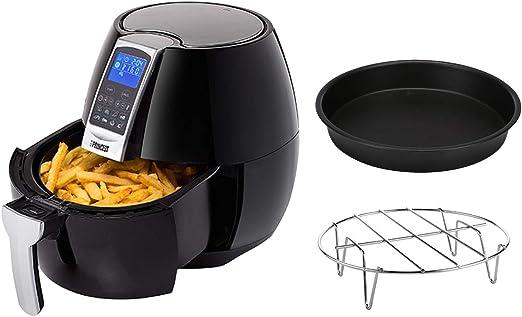Freidora de aire caliente con sartén para pizza, Digital Aerofryer XL, 3,2 litros, para freír sin grasa: Amazon.es: Hogar