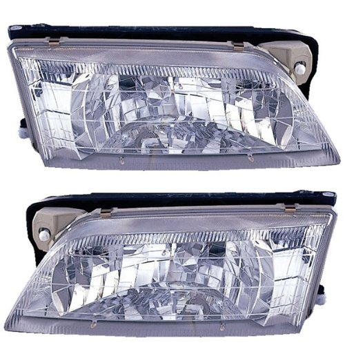 1996-1997 Infiniti I-30 I30 Headlight Headlamp Composite Halogen Front Head Light Lamp Set Pair Left Driver And Right Passenger Side (97 (Infiniti I30 Headlamp)