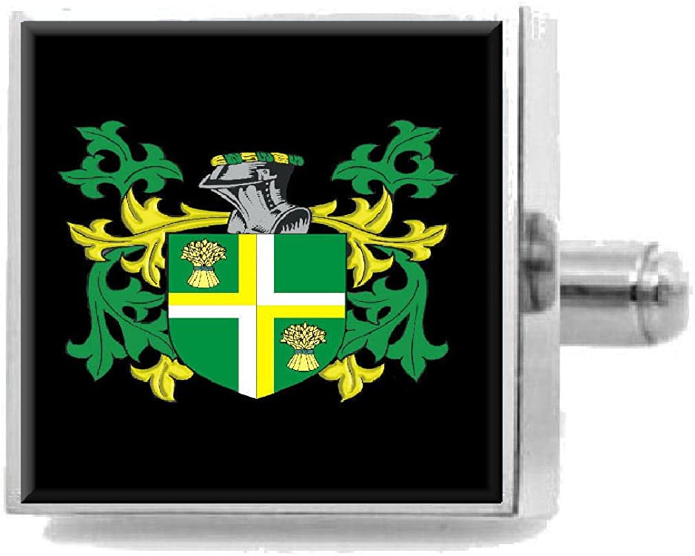 Select Gifts Haws England Heraldry Crest Sterling Silver Cufflinks Engraved Message Box