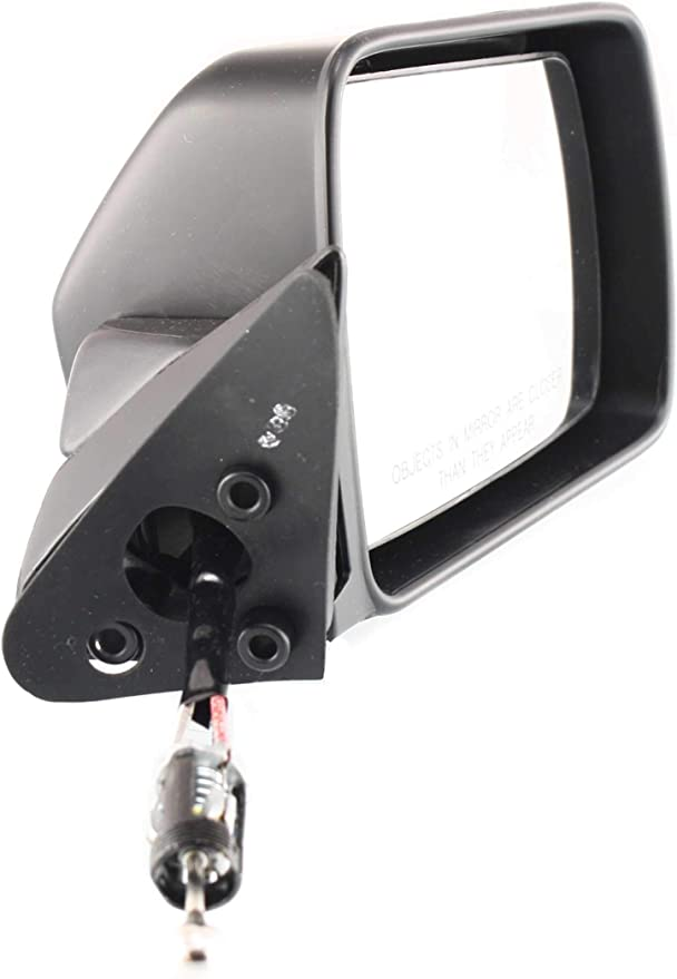 Manual Mirror Remote compatible with Jeep Cherokee 84-96 Right and Left Side Non-Folding Non-Heated Paintable