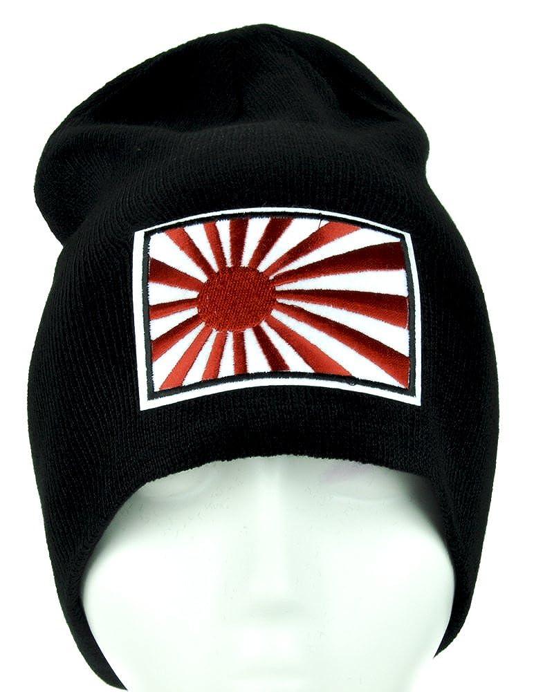 Japanese Flag Rising Sun Beanie Knit Cap Alternative Clothing Japan Anime Cosplay