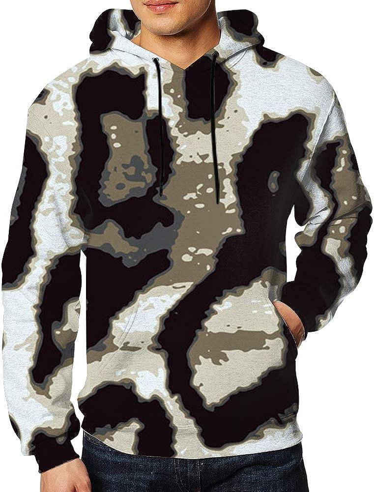 Men Sweatshirt Leopard Animal Wild Print Animals 3D Digital Printing Funny Hoodie Pullover with Pockets