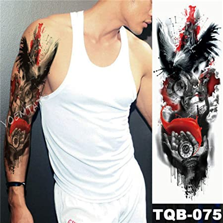 3pcsBig Brazo Manga Tatuaje búho Reloj de Mano Impermeable ángel ...