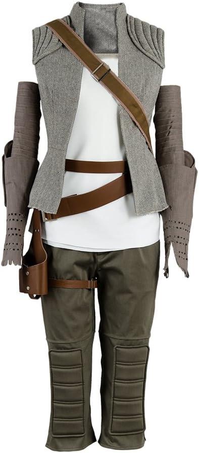 8 The Last Jedi Rey Outfit Traje de Cosplay Disfraz Mujeres M ...