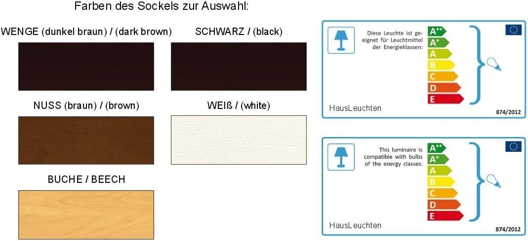 Stehlampe, Stehleuchte - HausLeuchten - LP4ROD - WENGE - Massivholz, Deckenfluter, Standleuchte (ROT) Ecru
