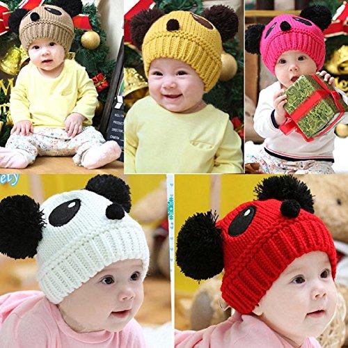 Baby Panda Cap,Misaky Kids Girls Boys Stretchy Warm Winter Hat Beanie
