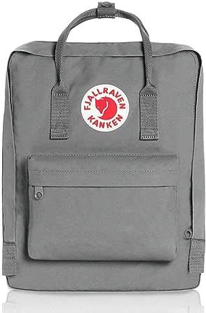 Fjallraven- Kanken Mini حقائب ظهر مدرسية للجنسين للطلاب، رمادي