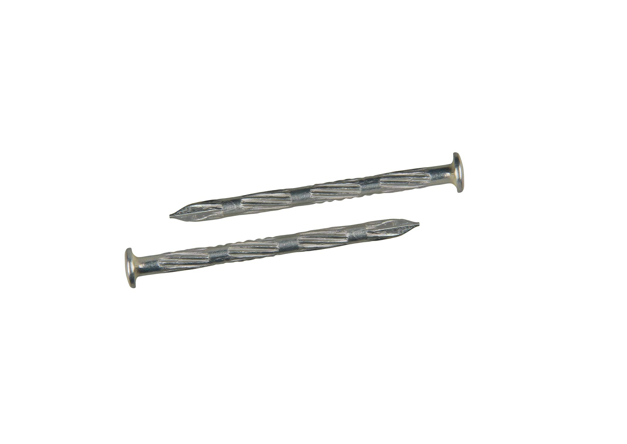 4x60 mm - 2.3 inch Hardened High carbon steel nails for masonry and metal plates zinc plated 200 pcs (2.31 lb.) by Ozcan Steel Nail