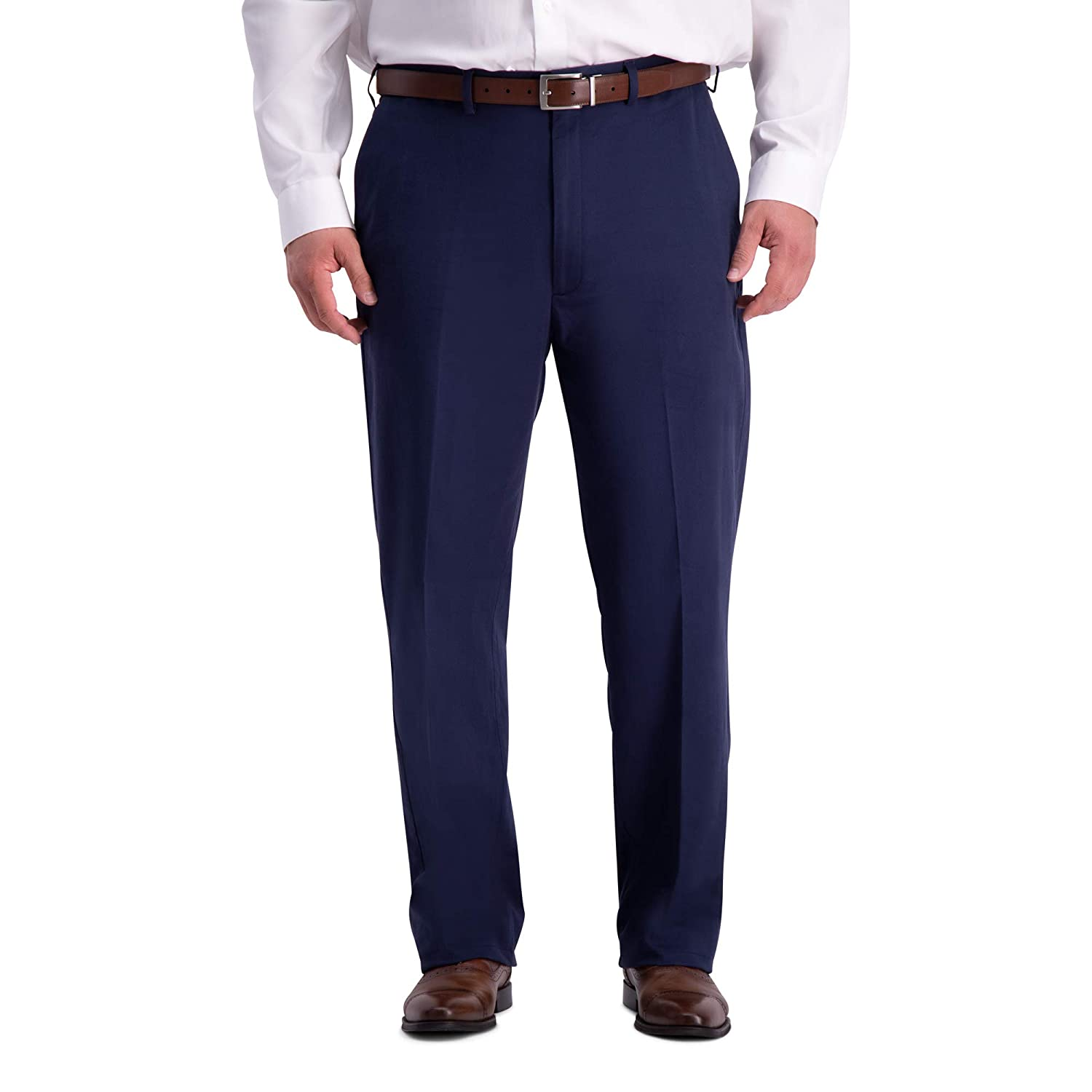Haggar Mens Big-Tall B& t Work to Weekend Pro Relaxed Fit Flat Front Pant HC90409