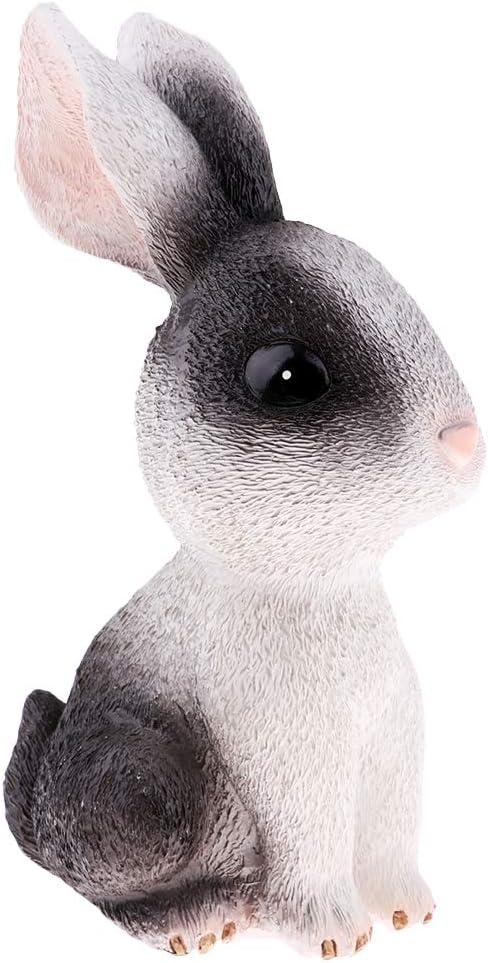 Lovely Rabbit Piggy Bank Ornament Coin Saving Bank Tabletop Decoration Black