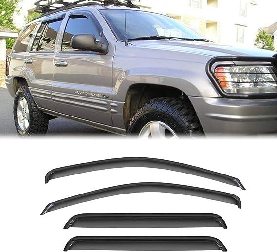 VXMOTOR for 2005-2007 Ford Freestyle All Models; 2008-2009 Ford Taurus X All Models Sun//RAIN//Wind Guard Smoke Vent Shade Deflector Window Visor 4PCs