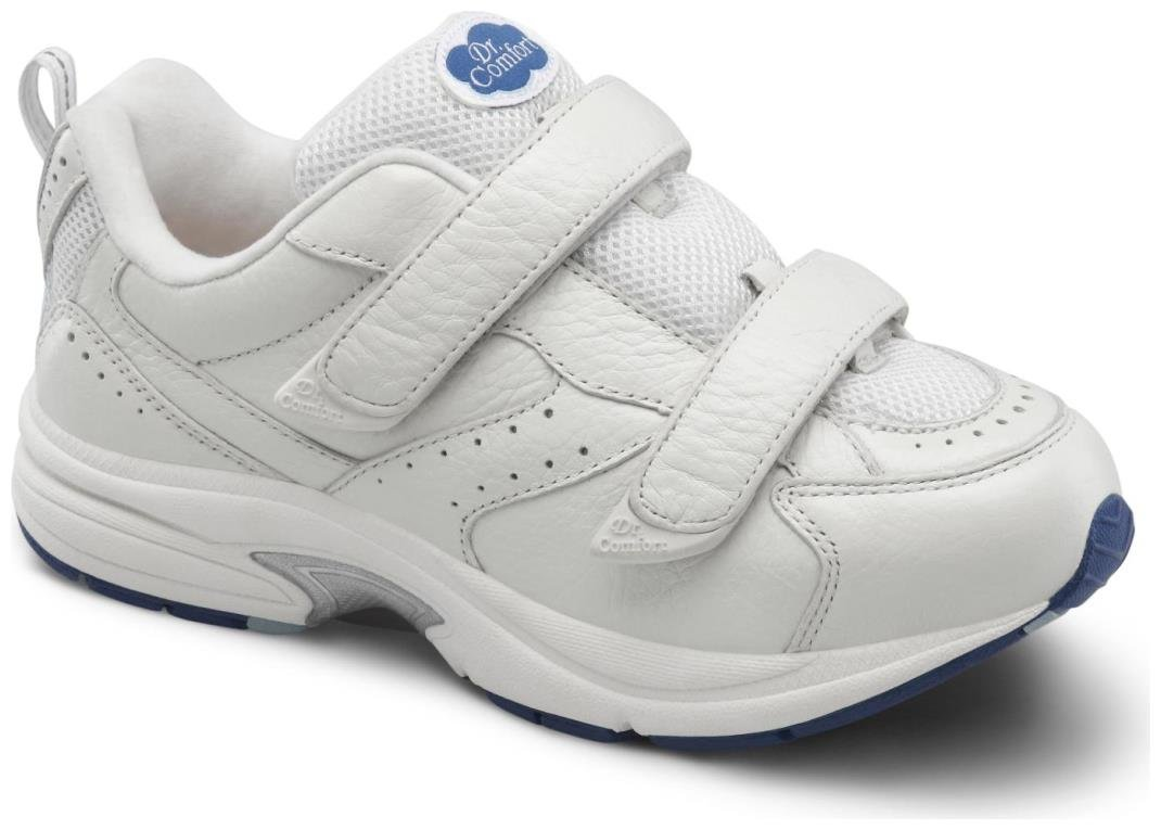 Dr. Comfort Spirit-X Women's Therapeutic Diabetic Extra Depth Shoe: White 6 X-Wide (XW/4E) Velcro by Dr. Comfort