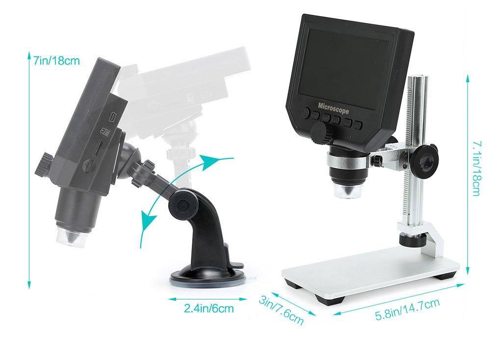 Koolertron digital mikroskop zoll p hd lcd elektronisch