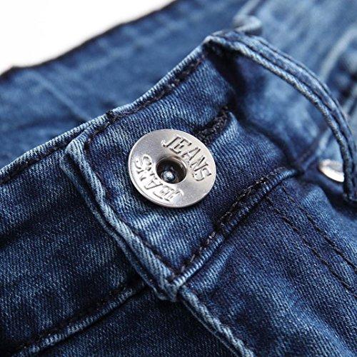 De De Pantalones Bolsillos Jeans ZARLLE Deportivos con Hombres Vaqueros Pantalones Harem Largos Skinny Fit Hombres Azul Pantalones para Pantalones Slim Hippie Vaqueros 5wH77z