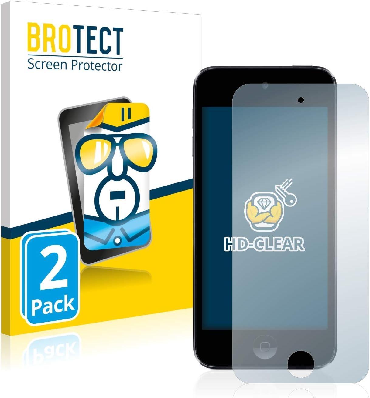 Protector Transparente Anti-Huellas BROTECT Protector Pantalla Compatible con Apple iPod Touch 2 Unidades 7a generaci/ón