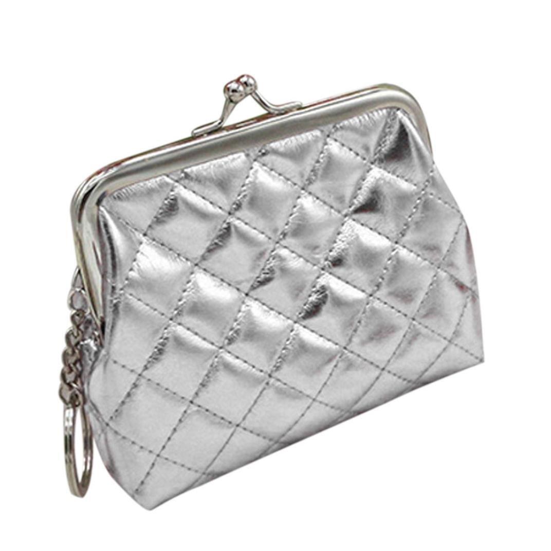 livotyレディース財布カードホルダーコイン財布クラッチバッグハンドバッグ  シルバー B01MR566EG