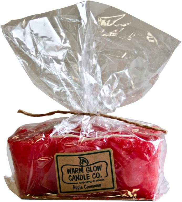 Warm Glow Candle Company Apple Cinnamon 6 Pack Votive Candles