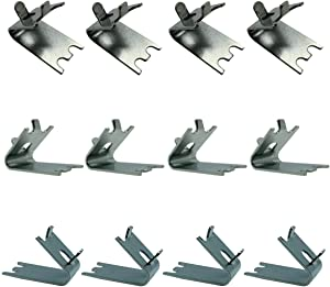 20158 Freezer Shelf Clips 12 Pack Stainless Steel Square Support Clip Freezer Cooler Shelf for Refrigerator
