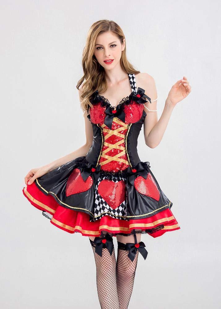 Shisky Cosplay kostüm Damen, Queen Halloween Queen Damen, Bühne Kostüm einheitliche Rolle Spielen Kostüm Rollenspiel 38dd56