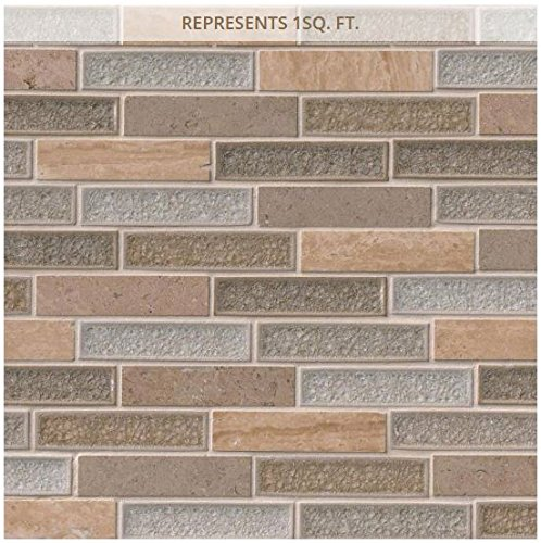 Crystal Vista 12 in. x 12 in. x 8 mm Glass and Stone Mesh-Mounted Mosaic Tile